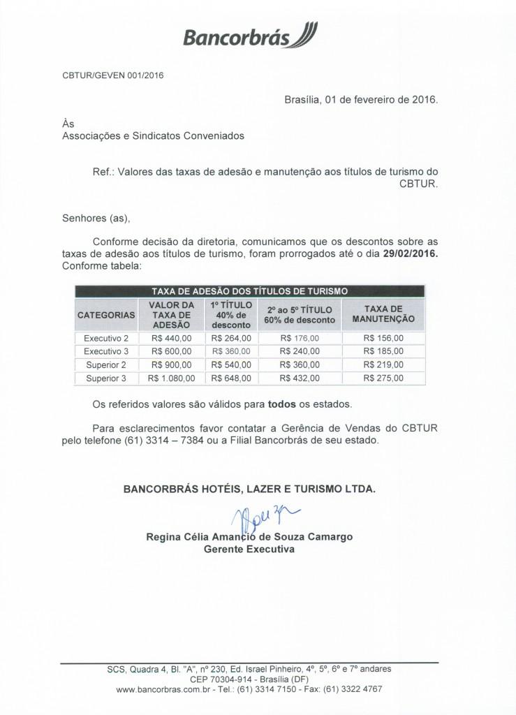 001 - Taxa de Adesão e Manutenção até 29-02-16 - Convênios
